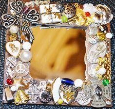 handmade angel mosaic mirror   cross mosaic by MosaicTreasureBox
