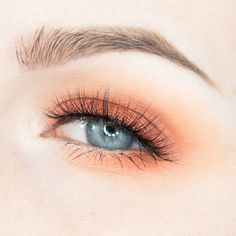 Orange Eye Makeup For Blue Eyes  http://www.rebeccashoresmua.com/blog/orange-eye-makeup-for-blue-eyes