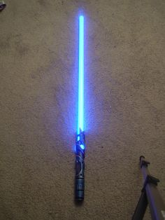 Instructions to make your own light saber! I can't wait to try this with Lily!