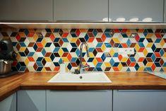 Kuchyňa Stupava - MMOSAICS Valance Curtains, Retro, Kitchen, Home Decor, Cooking, Decoration Home, Room Decor, Kitchens, Retro Illustration