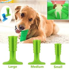Size: Large size: 12.8*17.5*6cm Medium size: 10*14.5*4.8 cm Small size: 7.1*9.7*3.8 cm (plz allow 1-3cm difference due to hand measurement, thx!) Material:Rubber Target Audience: all size dog Features: 1. Interesting: the funny bone shape design is dog's favorite which can encourage pets to clean their teeth every day. 2. All-around Clean: the stick design can clean the both sides of the teeth and can be placed in your pet mouth perfectly and comfortably 3. Meat Toothbrush: can attract dogs… Dog Paws, Pet Dogs, Pets, Dog Grooming Clippers, Teeth Care, Target Audience, Pet Puppy, Teeth Cleaning, Shape Design