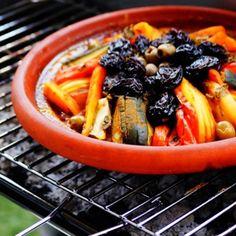 Tajine marocain aux légumes sans viande au barbecue