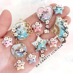 Likes, 71 Comments – Lianne H. Clay Creations (Da Crafty Lilninja) on Inst… Likes, 71 Comments – Lianne … Resin Charms, Polymer Clay Charms, Polymer Clay Creations, Polymer Resin, Kawaii Jewelry, Kawaii Accessories, Cute Jewelry, Kawaii Crafts, Magical Jewelry