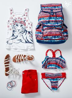 Set off fashion fireworks in our red, white & blue collection!