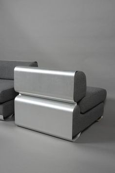 Anonymous; Aluminum Lounge Chair by Acerbis, 1970.