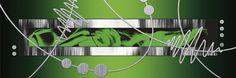 Jule: Silber abstrakt auf Grün.  Im Digitaldruck wird auf Echtleinen gedruckt und auf einen 2 cm starken Keilrahmen gespannt. Besonders hochwertige Druckfarben sorgen dafür, dass die Farben nach vielen Jahren immer noch genauso strahlen wie am ersten Tag. Die Ähnlichkeit mit einem echten Gemälde überzeugt. Durch den Einsatz von keilgezinkten Rahmen kann die Leinwand - wenn Beulen auftreten - ne...