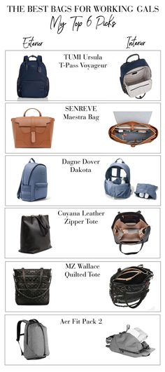 The Best Bags for Working Women - Laptop - Ideas of Laptop - Weve collected the 44 most stylish office bags for working women that fit a laptop including backpacks travel bags crossbody bags totes & briefcases. Office Bags For Women, Laptop Bag For Women, Travel Bags For Women, Women Work Bag, Cute Laptop Bags, Inspiration Tattoo, Best Work Bag, Stylish Office, Work Bags