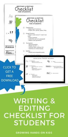 Click this pin to get a free download of the writing and editing checklist for students, based on the CUPS method. #Writing #Handwriting #OccupationalTherapy #Elementary #WritingChecklist #StudentHelp Proprioceptive Activities, Sensory Activities, Hands On Activities, Therapy Activities, Editing Writing, Pre Writing, Writing Skills, Writing Prompts, Speech And Language