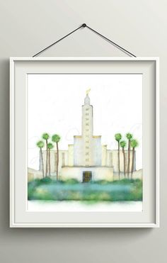 Los Angeles Temple, Los Angeles LDS Temple, LA Temple, LA Temple Print, Los Angeles Temple Printable, Los Angeles Temple Poster, Mormon Art