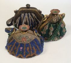1920's celluloid and beaded  purses ... Easy to love