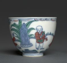 Wine Cup with Children at Play, 1465-1487, China, Jiangxi province, Jingdezhen , Ming dynasty (1368-1644),