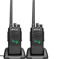Retevis RT50 Two Way Radios Long Rang 10W High Power Waterproof IP67 UHF Group Call 198 CH Display Dual Time Slot Digital Walkie Talkies (2 Pack) * Check out this great product. (This is an affiliate link) Walkie Talkie, Talk To Me, Radios, Slot, Range, Display, Group, Bathroom, Digital