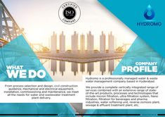 """Very Attractive Landscape Brochure Design for """"Hydromo - The Future of Water"""" Management Logo, Water Management, Management Company, Branding Agency, Branding Design, Brochure Design Layouts, Civil Construction, Water Branding, Water Waste"""