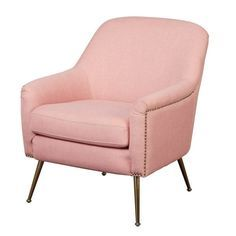 Diy Chair, Chair And Ottoman, Swivel Chair, Modern Armchair, Modern Chairs, Old Chairs, Pink Chairs, Metal Chairs, Pink Sofa
