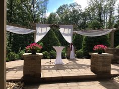 Sand Springs ceremony draping elevates your wedding!