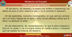 """MISIONEROS DE LA PALABRA DIVINA: MEDITACIÓN DEL EVANGELIO - """"Quien pierda su vida, ..."""