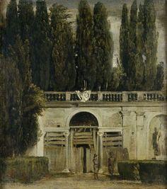 'Vista del jardín de la Villa Medici en Roma', de Diego Velázquez. Óleo sobre lienzo, 48,5 x 43 cm. (1630).
