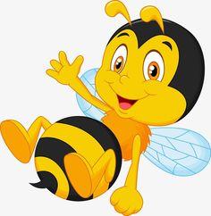 Vector illustration of Cute little bee cartoon waving hand Poster Bumble Bee Cartoon, Duck Cartoon, Bee Clipart, Bee Pictures, Cute Cartoon Characters, Free Cartoons, Cute Bee, Bee Crafts, Bee Theme
