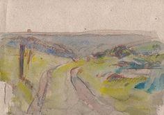 IMPRESSIONIST ENGLISH LANDSCAPE Painting c1940 SICKERT Pupil FRANK GRIFFITH