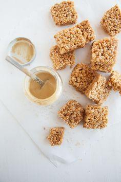 Sesame Seed Rice Krispie Treats (vegan + gf)