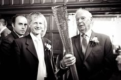 From Beth & Daniel's wedding. Olympic torch and security?