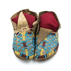 Cheyenne child's moccasins with buffalo hide soles  |  c. 1870s Chipeta Trading Company  |  Historic Native American Art