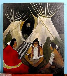 Native Americans Indians by Kevin Red Star Art