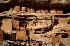 Tellem dwellings,  (Mali, West Africa)