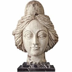 1stdibs.com | Very Mysterious American Carnival Wagon Carved Wood Female Head, late 19th C,
