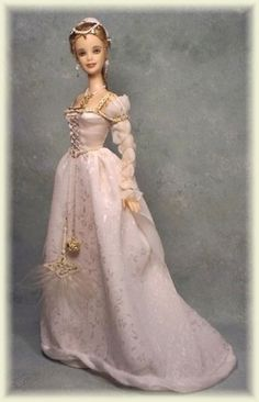 Art Doll by Cheryl Crawford of Crawford Manor Barbie Gowns, Barbie Dress, Barbie Clothes, Barbie Collection, Barbie World, Barbie Friends, Historical Costume, Vintage Barbie, Beautiful Dolls