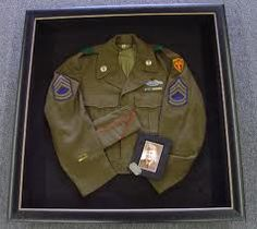 Military Uniform shadow box- Want to do this with my dad's uniform