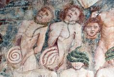 Medieval frescoes in the Camposanto in Pisa