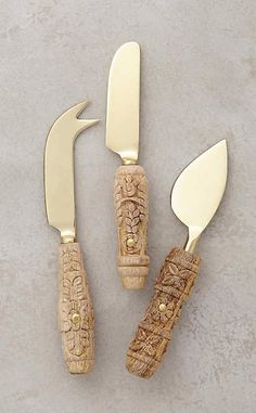 Carved Aurelian Cheese Knives #anthrofave