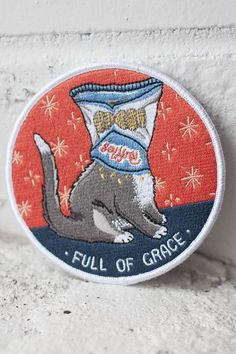 "You're a beautiful human being covered in chip crumbs and that's perfectly fine. 3.5"" embroidered patch with merrowed edge and iron-on backing. Follow the instructions below to affix this patch to a g"