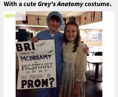 Grey's Anatomy style to ask a girl to prom! So cute