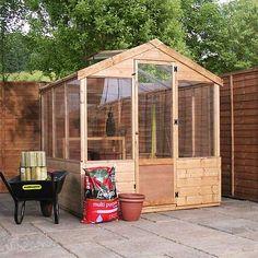 8 x 6 Waltons Evesham Wooden Greenhouse