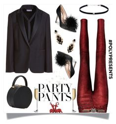 """""""#PolyPresents: Fancy Pants"""" by prettynposh2 ❤ liked on Polyvore featuring RtA, RED Valentino, Gucci, Nude, BUwood, Sam Edelman, Carbon & Hyde, GUESS, contestentry and polyPresents"""