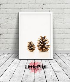 Pine cone print christmas decoration forest by LittlePitti on Etsy