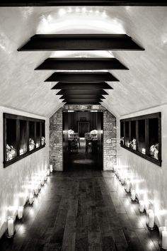 A pathway of candles into the Hayloft was the perfect simple but stunning entry into the reception.