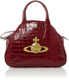 6b9d24a7d710 VIVIENNE WESTWOOD ENGLAND Chancery Patent Croc Dome Across Body Bag Across  Body Bag, Crocodile,