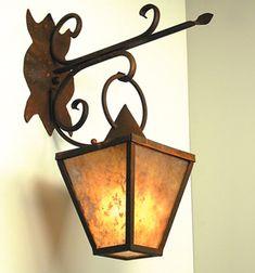 Storybook Rust Village Outdoor Wall Lantern (SB55-A) Mica Lamp Company