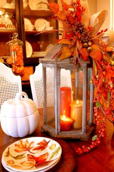Fall Centerpiece ~ Visit shelterness.com