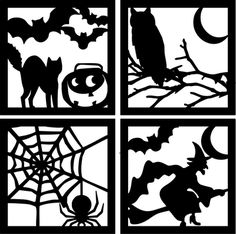 Moldes Halloween, Manualidades Halloween, Adornos Halloween, Fete Halloween, Diy Halloween Decorations, Halloween Cards, Holidays Halloween, Happy Halloween, Silhouette Cameo Projects