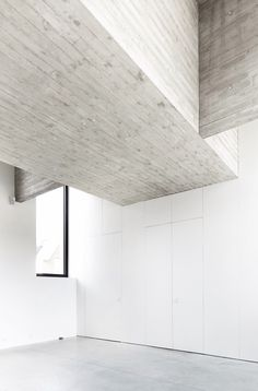 Wood plank formed concrete interior structure