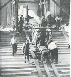 The Winged Victory was removed from the Louvre on Septeember 3, 1939 because the curators were afraid that the outbreak of war in Europe could lead to violence in Paris, perhaps even bombing of the museum. The original photo is credited to Noel de Boyer.