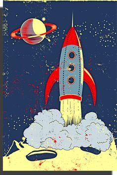 Retro Rocket Wall Canvas  http://www.bouf.com/buy/product/31415/retro-rocket-wall-canvas