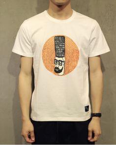 Creative vintage t shirts for men Head portrait funny white t shirt-