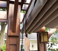 do it yourself retractable pergola canopy - Google Search