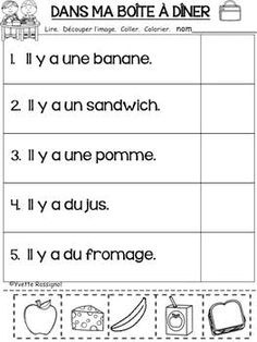 LECTURE FACILE (Découpe et colle) GRATUIT maternelle, vocabulaire French Language Lessons, French Language Learning, Spanish Lessons, Dual Language, Teaching Spanish, Spanish Language, French Flashcards, French Worksheets, Spanish Word Wall