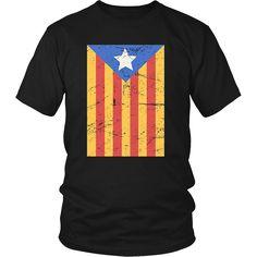 Vintage Flag of Independence | Catalonia T-Shirt – teefim